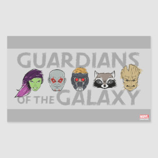 Guardians of the Galaxy | Crew Rough Sketch Rectangular Sticker