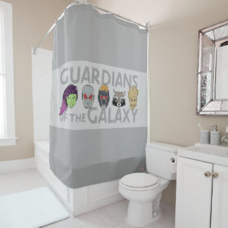 Guardians of the Galaxy | Crew Rough Sketch Shower Curtain