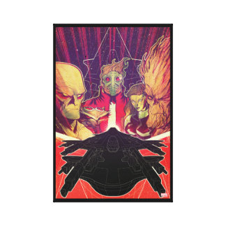 Guardians of the Galaxy | Crew & Ship Art Canvas Print