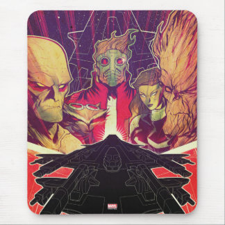 Guardians of the Galaxy | Crew & Ship Art Mouse Pad