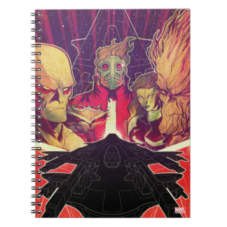 Guardians of the Galaxy | Crew & Ship Art Spiral Notebook