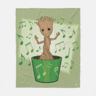 Guardians of the Galaxy | Dancing Baby Groot Fleece Blanket
