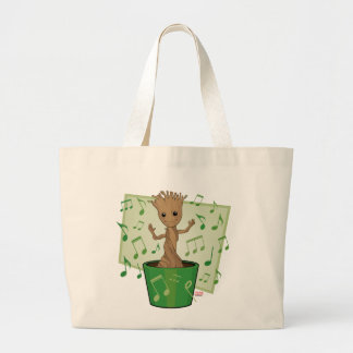 Guardians of the Galaxy | Dancing Baby Groot Large Tote Bag