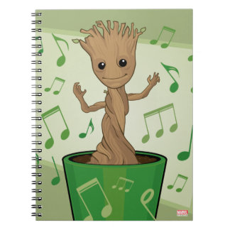 Guardians of the Galaxy | Dancing Baby Groot Notebooks