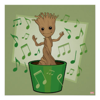 Guardians of the Galaxy | Dancing Baby Groot Poster