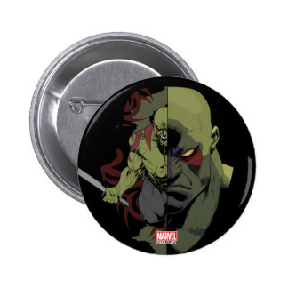 Guardians of the Galaxy | Drax Close-Up Graphic 6 Cm Round Badge