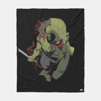 Guardians of the Galaxy | Drax Close-Up Graphic Fleece Blanket