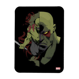 Guardians of the Galaxy   Drax Close-Up Graphic Rectangular Photo Magnet