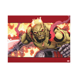 Guardians of the Galaxy | Drax In Flames Canvas Print