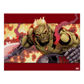 Guardians of the Galaxy | Drax In Flames Poster