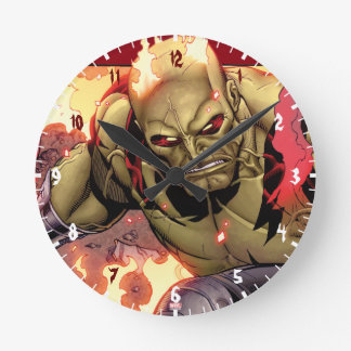 Guardians of the Galaxy | Drax In Flames Round Clock