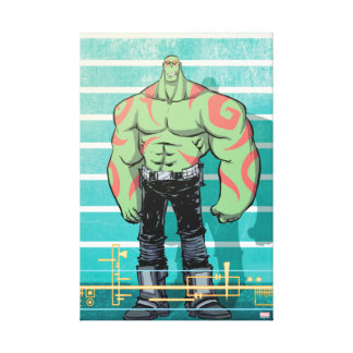 Guardians of the Galaxy | Drax Mugshot Canvas Print