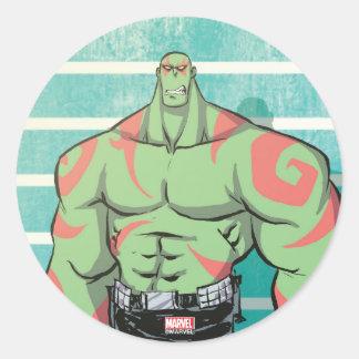 Guardians of the Galaxy | Drax Mugshot Classic Round Sticker