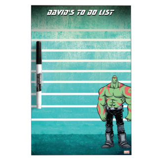Guardians of the Galaxy | Drax Mugshot Dry Erase Board