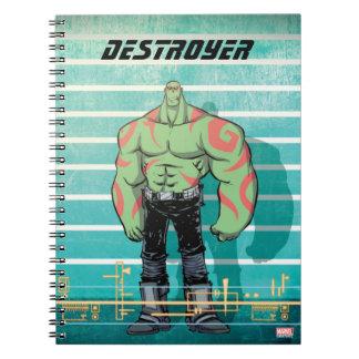 Guardians of the Galaxy | Drax Mugshot Notebook