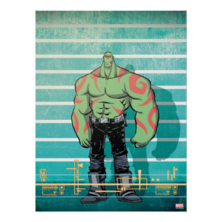 Guardians of the Galaxy | Drax Mugshot Poster