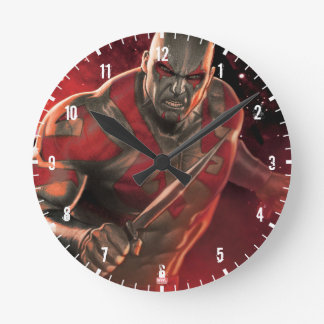 Guardians of the Galaxy | Drax With Daggers Round Clock