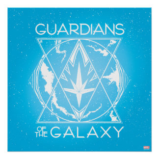 Guardians of the Galaxy | Galactic Logo Badge Poster