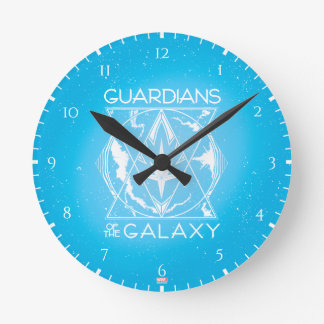 Guardians of the Galaxy | Galactic Logo Badge Round Clock