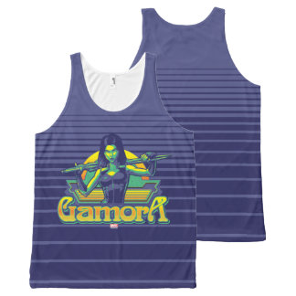 Guardians of the Galaxy | Gamora Cartoon Badge All-Over Print Singlet