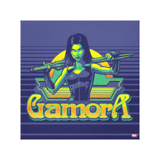 Guardians of the Galaxy | Gamora Cartoon Badge Canvas Print