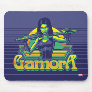 Guardians of the Galaxy | Gamora Cartoon Badge Mouse Pad