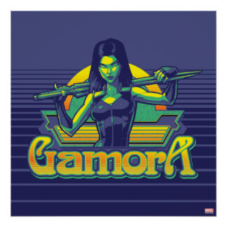 Guardians of the Galaxy | Gamora Cartoon Badge Poster