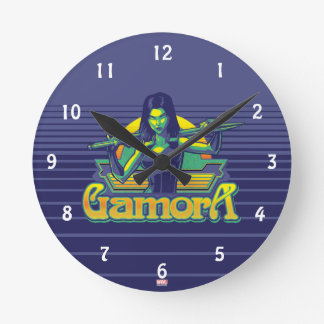 Guardians of the Galaxy | Gamora Cartoon Badge Round Clock