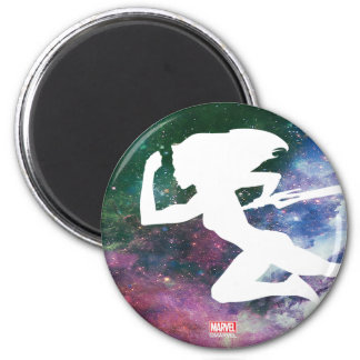 Guardians of the Galaxy | Gamora Galaxy Cutout Magnet