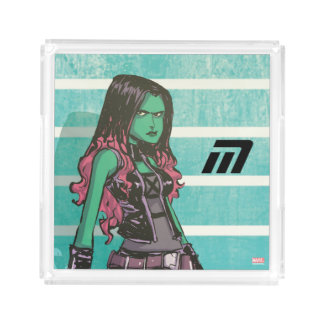 Guardians of the Galaxy | Gamora Mugshot Acrylic Tray