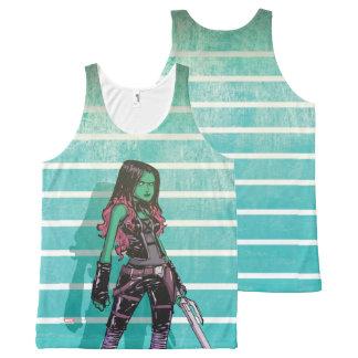 Guardians of the Galaxy | Gamora Mugshot All-Over Print Singlet