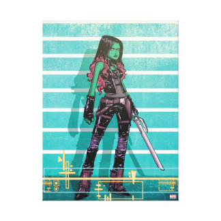 Guardians of the Galaxy | Gamora Mugshot Canvas Print