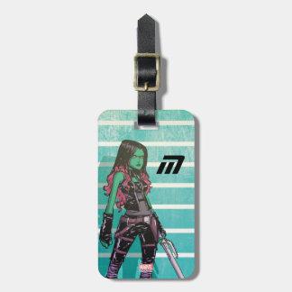 Guardians of the Galaxy | Gamora Mugshot Luggage Tag