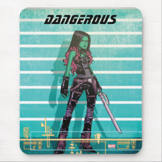Guardians of the Galaxy | Gamora Mugshot Mouse Pad