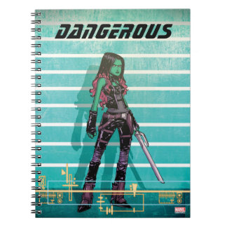Guardians of the Galaxy | Gamora Mugshot Notebook