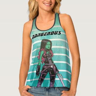 Guardians of the Galaxy   Gamora Mugshot Tank Top
