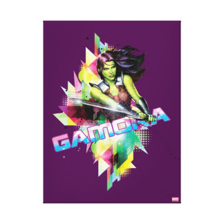 Guardians of the Galaxy   Gamora Neon Graphic Canvas Print