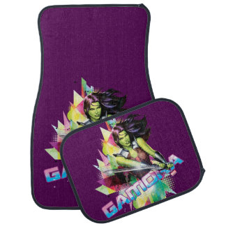Guardians of the Galaxy | Gamora Neon Graphic Car Mat