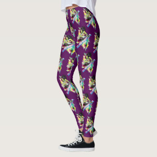 Guardians of the Galaxy | Gamora Neon Graphic Leggings