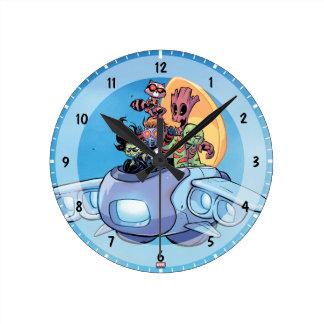 Guardians of the Galaxy | Gamora Pilots Ship Round Clock