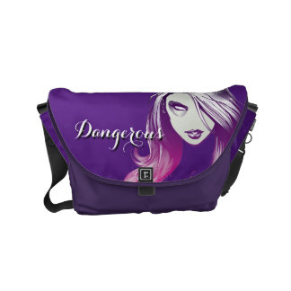 Guardians of the Galaxy | Gamora Watercolor Messenger Bags