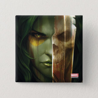 Guardians of the Galaxy | Gamora With Blade 15 Cm Square Badge