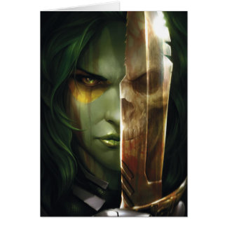 Guardians of the Galaxy | Gamora With Blade Card