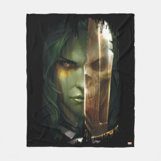 Guardians of the Galaxy | Gamora With Blade Fleece Blanket