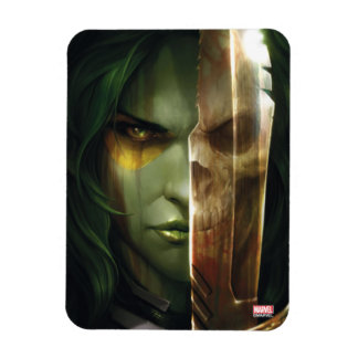 Guardians of the Galaxy   Gamora With Blade Rectangular Photo Magnet