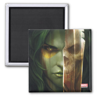 Guardians of the Galaxy   Gamora With Blade Square Magnet