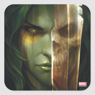 Guardians of the Galaxy | Gamora With Blade Square Sticker