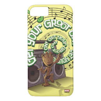 Guardians of the Galaxy | Groot Boombox iPhone 8/7 Case