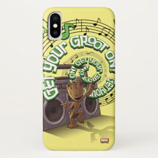 Guardians of the Galaxy | Groot Boombox iPhone X Case