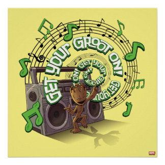 Guardians of the Galaxy | Groot Boombox Poster